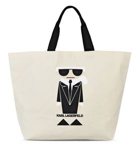 KARL LAGERFELD K/KOCKTAIL CANVAS BAG