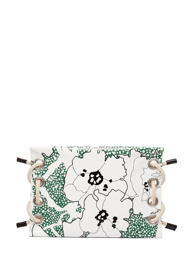 Marni SATELITE printed PVC clutch bag Woman
