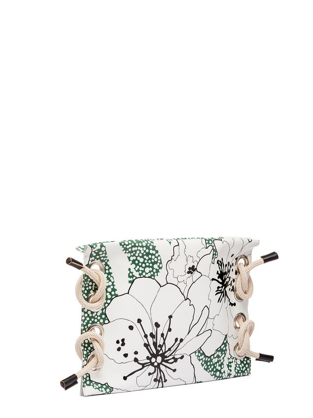 Marni SATELITE printed PVC clutch bag Woman - 4