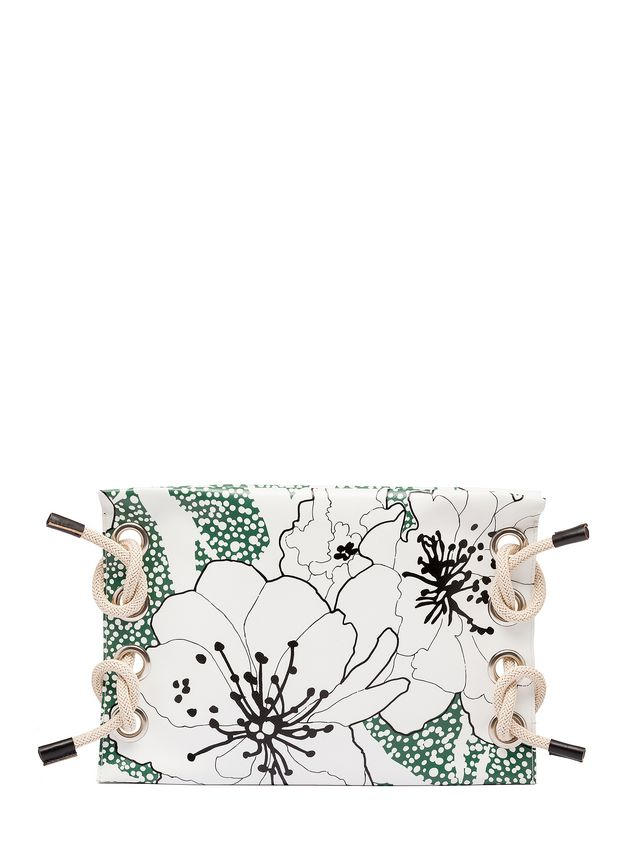 Marni SATELITE printed PVC clutch bag Woman - 1