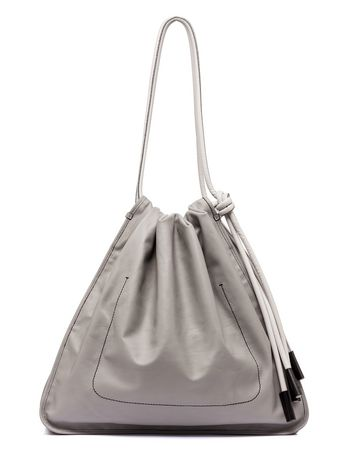 Marni Runway drawstring shoulder-bag NUAGE in calfskin Woman