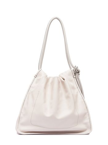 Marni Drawstring shoulder-bag NUAGE in calfskin Woman