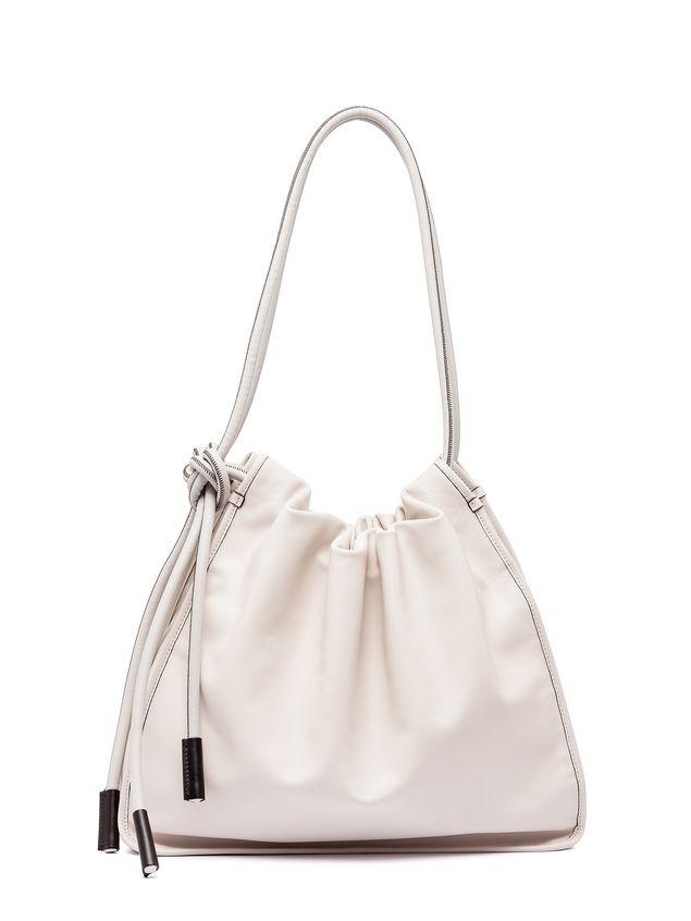 Marni NUAGE calfskin drawstring shoulder bag Woman