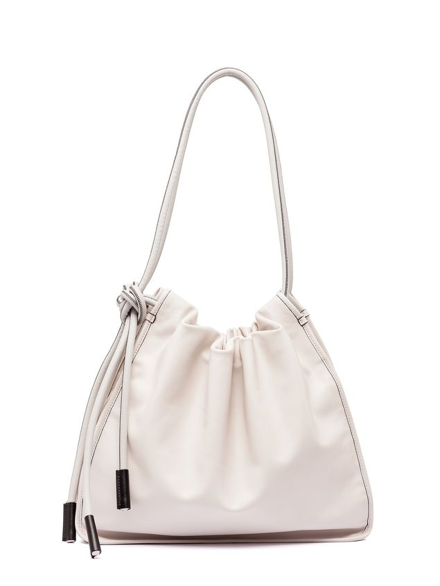 Marni NUAGE calfskin drawstring shoulder bag Woman - 3