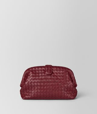 POCHETTE THE LAUREN 1980 IN INTRECCIATO NAPPA GIGOLO RED