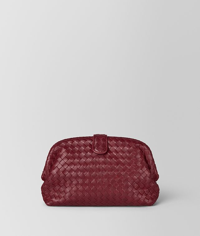 BOTTEGA VENETA THE LAUREN 1980 IN INTRECCIATO NAPPA GIGOLO RED Clutch D fp