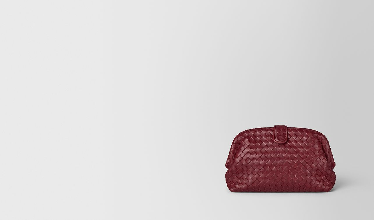 gigolo red intrecciato nappa the lauren 1980 clutch landing