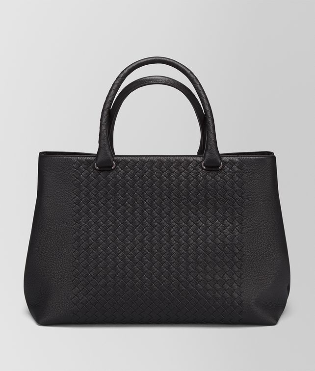 BOTTEGA VENETA TOTE BAG IN NERO CERVO, INTRECCIATO DETAIL Tote Bag Man fp
