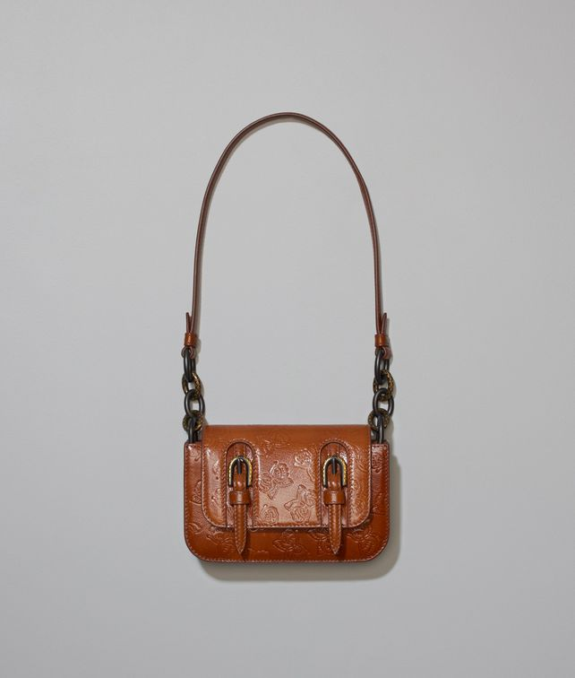 BOTTEGA VENETA DOPPIA BAG IN CALVADOS GOAT, EMBOSSED BUTTERFLIES DETAILS Shoulder or hobo bag D fp