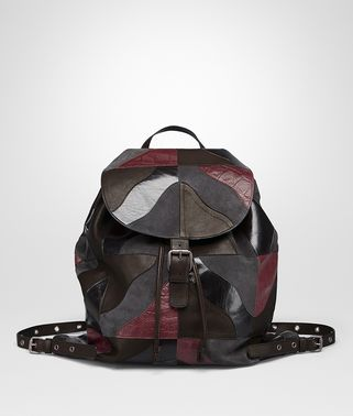 BACKPACK IN MULTICOLOR MULTIMATERIAL, PRINTED CROCODILE DETAILS