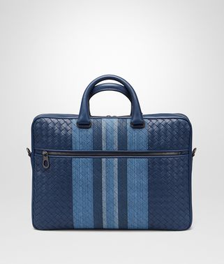 BRIEFCASE IN PACIFIC INTRECCIATO NAPPA, EMBROIDERED DETAILS
