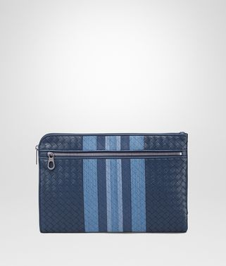 DOCUMENT CASE IN PACIFIC INTRECCIATO NAPPA, EMBROIDERED DETAILS