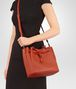 BOTTEGA VENETA MESSENGER BAG IN GERANIUM INTRECCIATO NAPPA Crossbody bag Woman ap