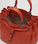 BOTTEGA VENETA MESSENGER BAG IN GERANIUM INTRECCIATO NAPPA Crossbody bag Woman dp