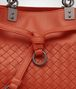BOTTEGA VENETA MESSENGER BAG IN GERANIUM INTRECCIATO NAPPA Crossbody bag Woman ep