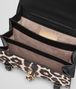 BOTTEGA VENETA CITY KNOT BAG IN NERO CALF, LEOPARD PRINT Shoulder or hobo bag D dp