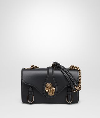 CITY KNOT BAG IN NERO CALF