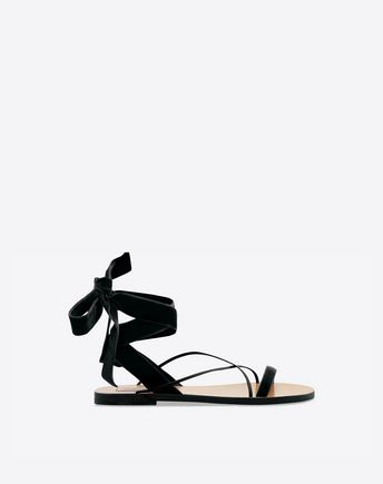 VALENTINO Sandalo in velluto 45341356NF