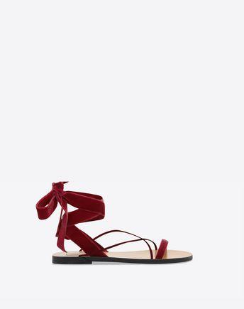 VALENTINO Sandalo in velluto 45341357II