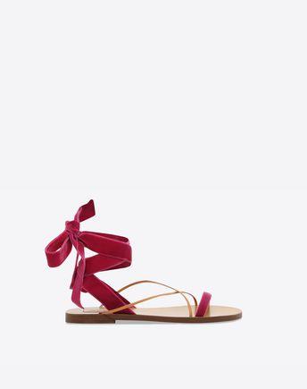 VALENTINO Sandalo in velluto 45341359DU