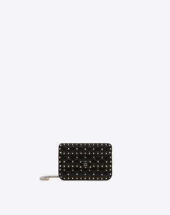 VALENTINO Small Rockstud Spike Chain Bag 45341367BW