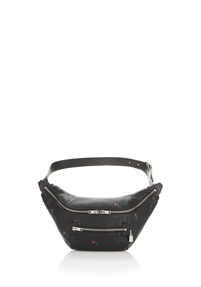 ALEXANDER WANG new-arrivals ROSE EMBOSSED FANNY PACK WITH RHODIUM