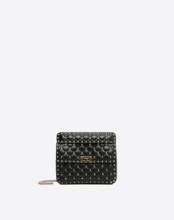 VALENTINO Medium Rockstud Spike Chain Bag 45341377NE