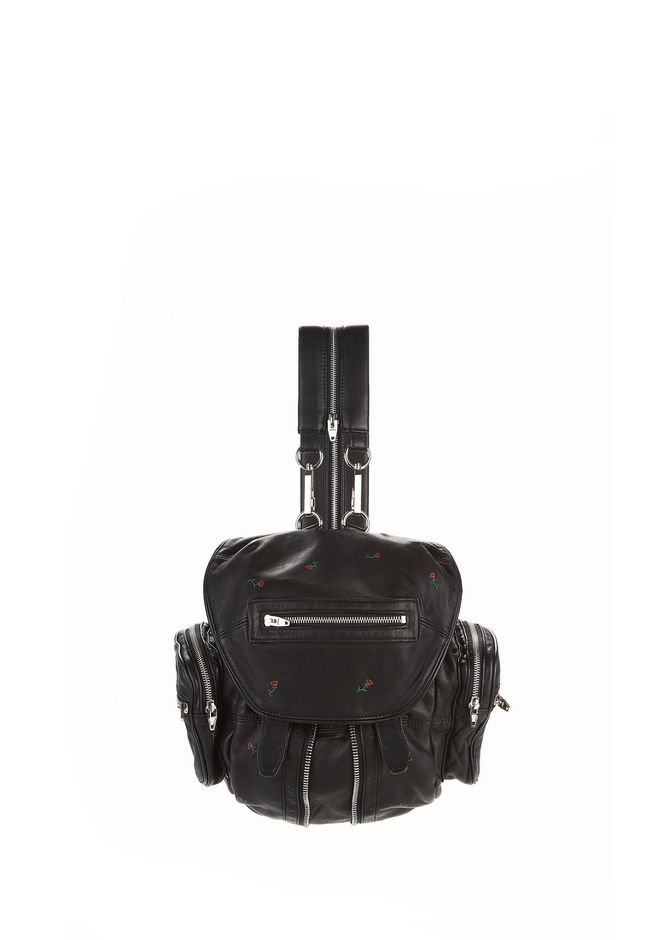 ALEXANDER WANG new-arrivals-bags-woman MINI MARTI BACKPACK IN BLACK ROSE PRINT WITH RHODIUM