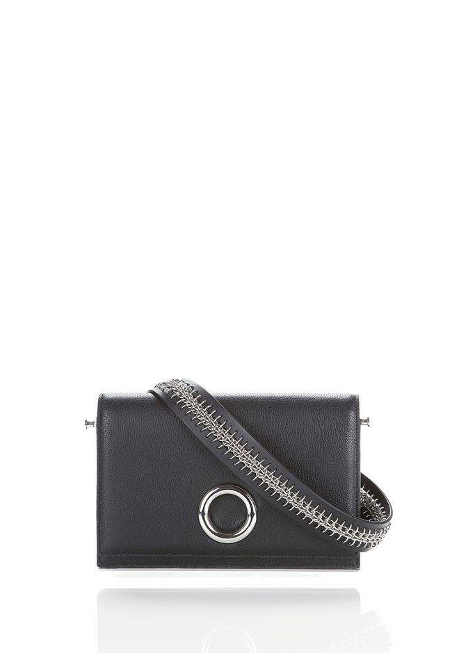 ALEXANDER WANG new-arrivals RIOT CONVERTIBLE CLUTCH IN BLACK WITH RHODIUM