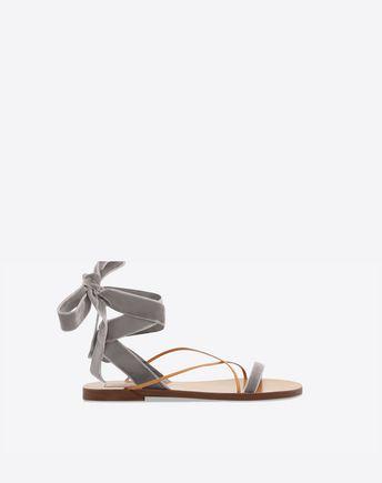 VALENTINO Sandalo in velluto 45341381JO