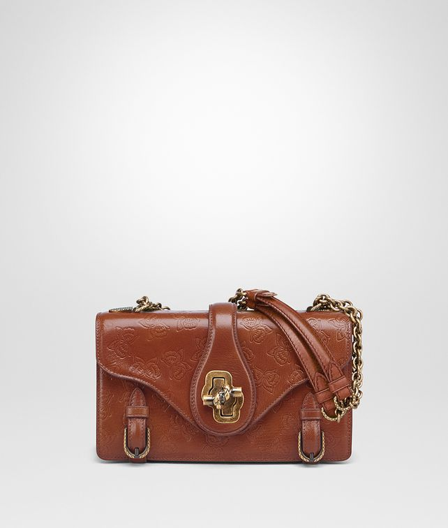 BOTTEGA VENETA CITY KNOT BAG IN CALVADOS GOAT, EMBOSSED BUTTERFLIES DETAILS Shoulder Bag Woman fp