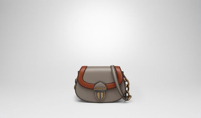 UMBRIA BAG IN STEEL CALF, MULTIMATERIAL DETAILS