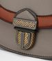 BOTTEGA VENETA UMBRIA BAG IN STEEL CALF, MULTIMATERIAL DETAILS Shoulder or hobo bag D ep