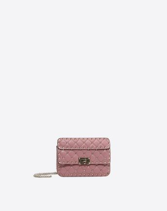 VALENTINO Small Rockstud Spike Chain Bag 45341522GC
