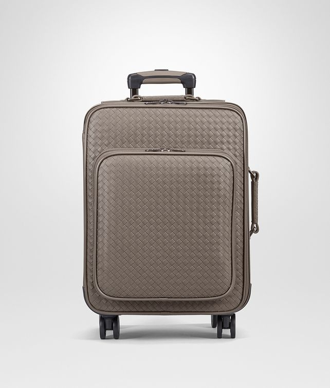 BOTTEGA VENETA TROLLEY IN STEEL INTRECCIATO VN Trolley and Carry-on bag E fp
