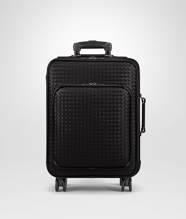 BOTTEGA VENETA TROLLEY IN NERO INTRECCIATO VN Luggage E fp