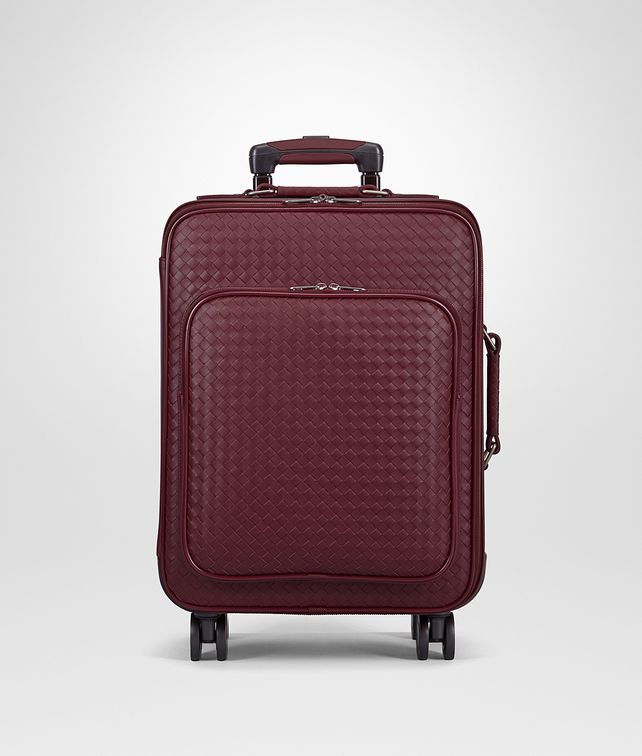 BOTTEGA VENETA TROLLEY IN BAROLO INTRECCIATO VN Luggage E fp