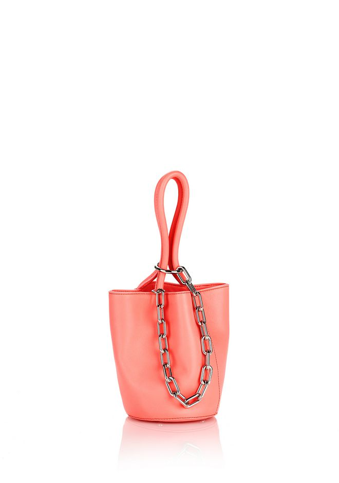 ALEXANDER WANG mini-bags ROXY MINI BUCKET FLUO PINK WITH RHODIUM