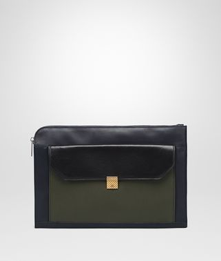 DOCUMENT CASE IN DARK NAVY NERO DARK SERGEANT CALF