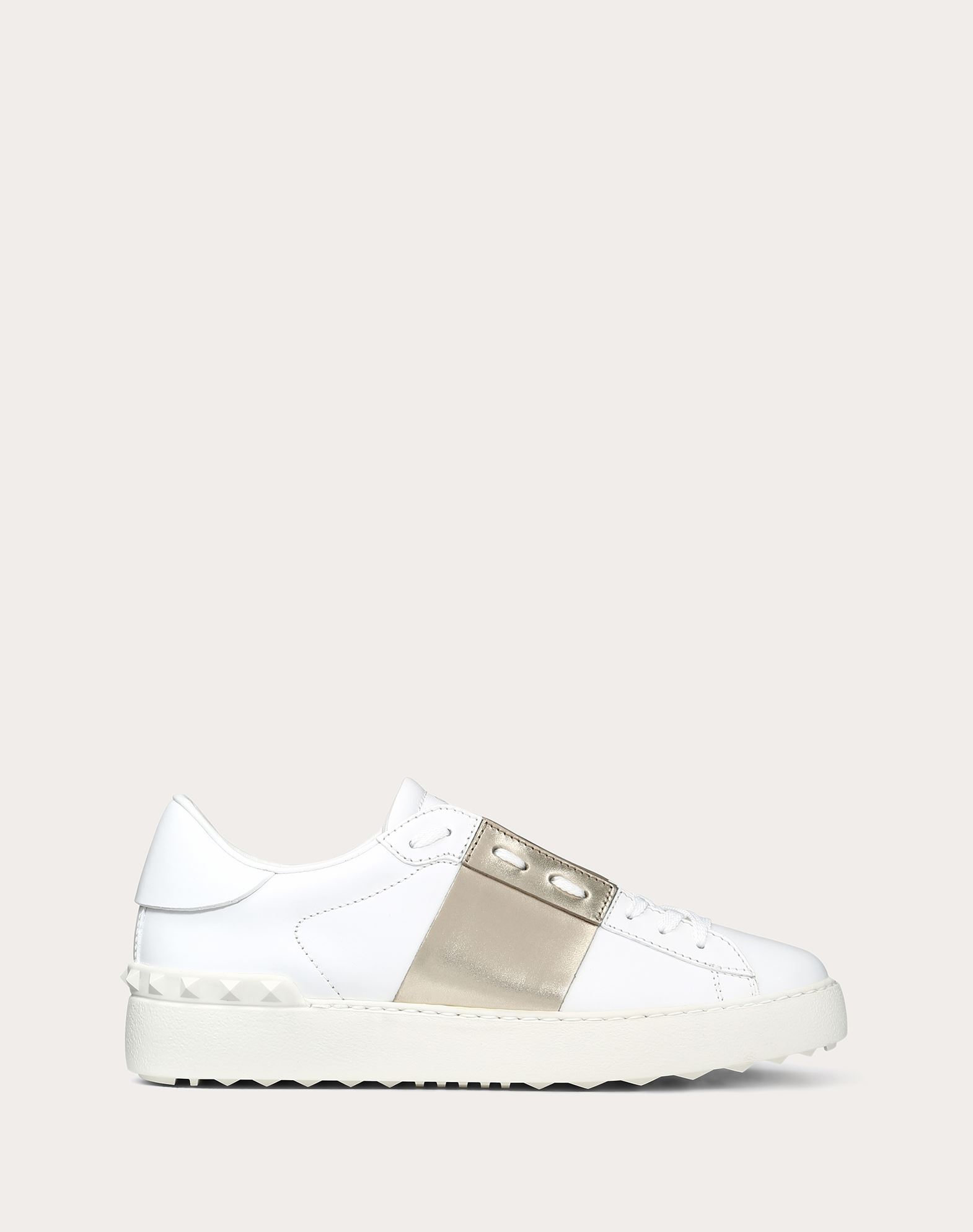 VALENTINO Round toeline Laces Rubber sole Laminated effect Studs  45342533ct