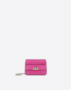 VALENTINO GARAVANI Shoulder bag D Small Rockstud Spike Chain Bag f