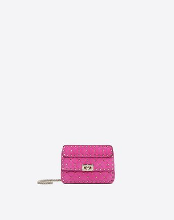 VALENTINO Small Rockstud Spike Chain Bag 45342654FS