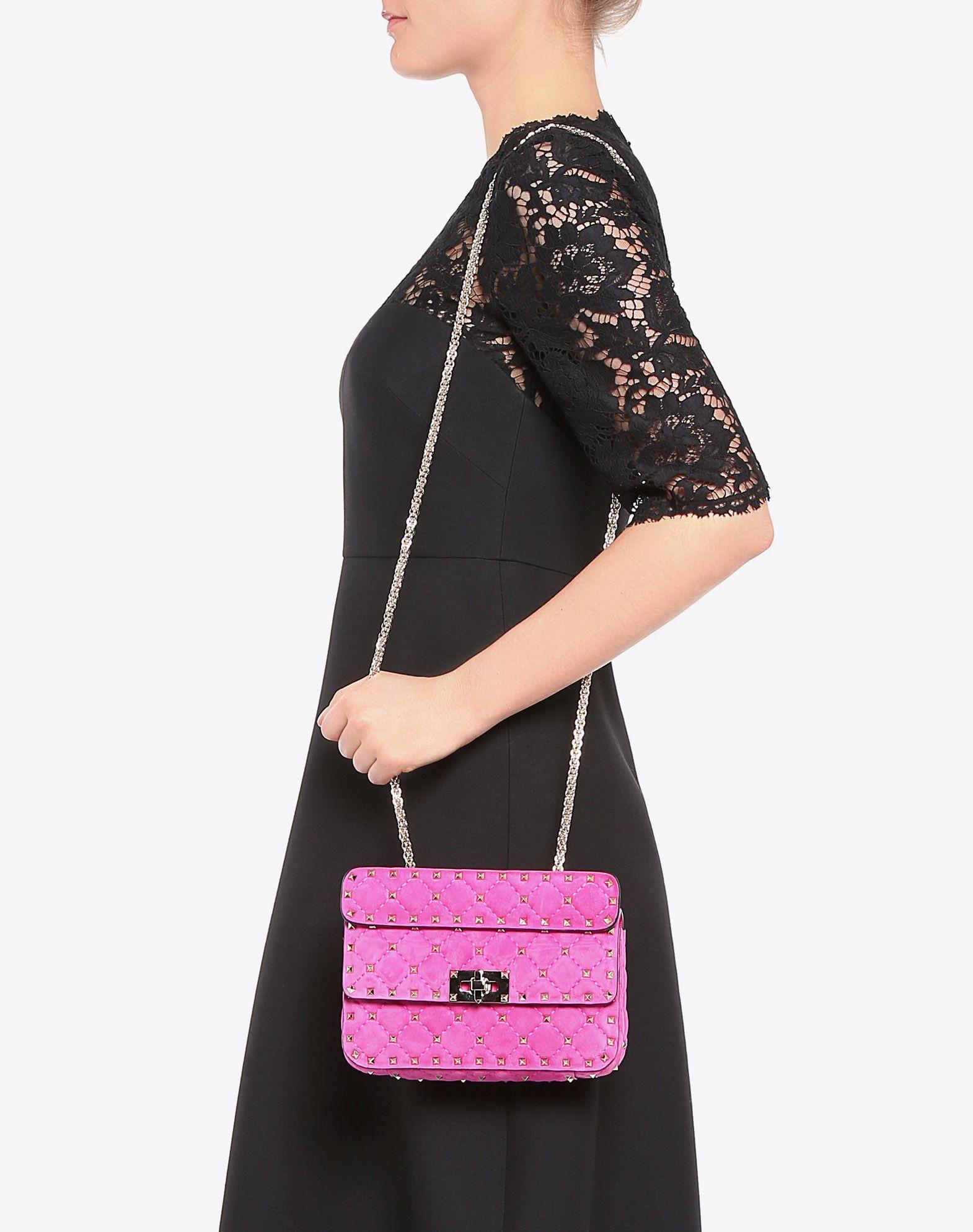 VALENTINO GARAVANI Small Rockstud Spike Chain Bag Shoulder bag D a