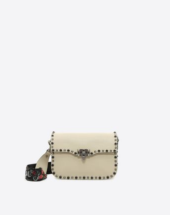 VALENTINO Guitar Rockstud Rolling Cross Body Bag 45342834OC