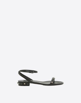 VALENTINO Rockstud Rolling Noir Sandal 45343178BR