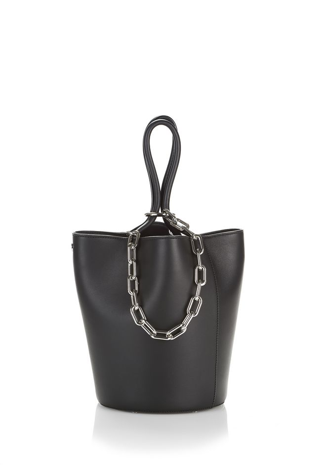 ALEXANDER WANG new-arrivals ROXY LARGE BUCKET BAG IN BLACK WITH RHODIUM