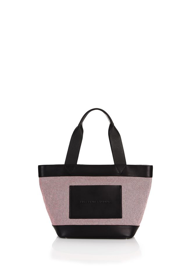 ALEXANDER WANG TOTES PINK BLACK MINI CANVAS TOTE