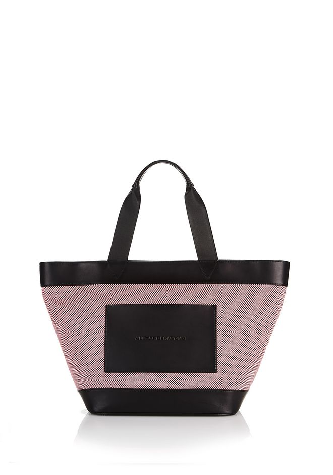 ALEXANDER WANG TOTES PINK BLACK CANVAS TOTE