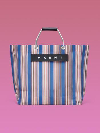 Marni Blue striped shopping bag Man