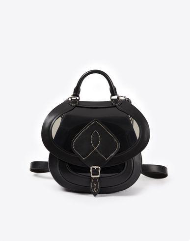 MAISON MARGIELA Shoulder bag D Bag-slide' in transparent PVC and calfskin f